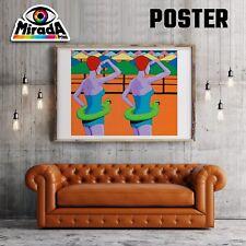 POSTER POP ART COLORE MODERNO ARTE NUOTO SWIMMING SALVAGENTE BUOY ACQUA MARE