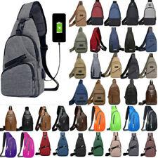Mens Chest Pack Single Shoulder Sling Strap Backpack Crossbody Rucksack Outdoor