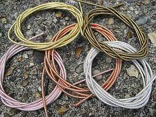 STIFF FRENCH COPPER PURL WIRE CORD COIL BULLION spiralled wire 1 meter 1.9mm dia
