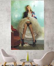 KATE MOSS ART UNION JACK ART, CANVAS ART Kate Moss Wall Art Decor A3 A2 A1 A0