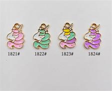 P272 6pc/20pc Charms unicorn Pendant Beads Necklace Jewellery Making Enamel