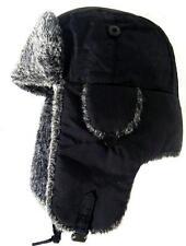 Ruso De Piel Ushanka Sombrero Para Hombre Grande Negro & Gris de esquí Cazador Caballeros Invierno Ushanka