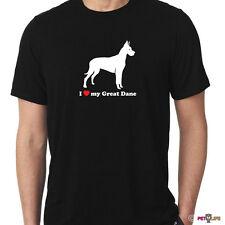 I Love My Great Dane Tee Shirt German Mastiff profile