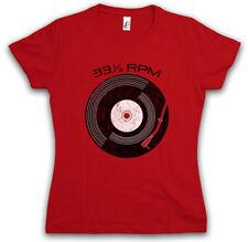"VINYL 33â?"" RPM T-SHIRT Club Disco Retro Music record player turntable DJ MC"