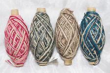 Jutekordel Flachs Kordel Flaxcord natur Tischdeko Deko tricolor 1mm  3-fach