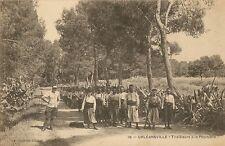 CARTE POSTALE ALGERIE ORLEANSVILLE TIRAILLEURS A LA PEPINIERE
