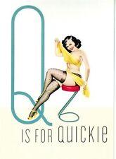 Década de 1950 Vintage Pin-Up Girl Q para Quickie cartel impresión A3/A2