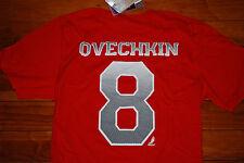 NEW #8 Alexander Ovechkin Washington Capitals NHL Jersey Shirt (Small, Medium)