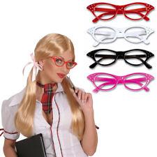 Rockabilly Brille 50er Jahre Gläser Strass Diva Partybrille Rock`n`Roll Brillen