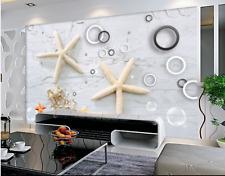 Papel Pintado Mural Vellón Burbuja De Estrellas De Mar 2 Paisaje Fondo Pantalla