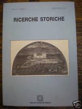 RICERCHE STORICHE - RIVISTA QUADRIMESTRALE DI STORIA