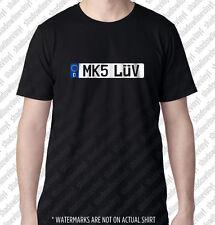 MK5 LUV European Euro License Plate T-shirt German Golf MKV 1K VW GTI VR6 R32