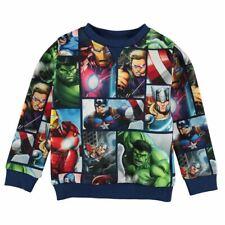 Chicos Niños Childrens Azul Marvel Comics Ironman Hulk Retro Top Suéter