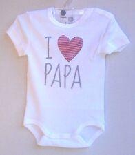 "SANETTA Baby-Body 1/2 Arm weiss ""  I liebe Papa ""  Gr. 56 - 86  UVP  11,95 €"