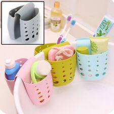 Homekitchen sink storage basket sponge holder hanging drain bag organizing hooks