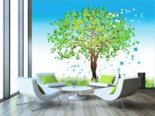 3D Pousse Arbres 23 Photo Papier Peint en Autocollant Murale Plafond Chambre Art