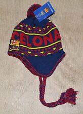 8db58f03734 FC BARCELONA PERUVIAN BEANIE NEW ! OFFICIAL SKULL CAP HAT WINTER