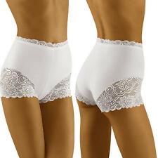 Boxer sexy blanc shorty dentelle femme Vega lingerie Wolbar 34 36 38 40 42 44