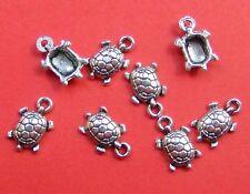 20pz charms ciondoli Tartaruga tartarughe 15x9mm colore argento tibet bijoux