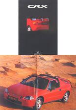 Honda CRX ESi VTi 1992-93 Original UK Sales Brochure (some damp staining)