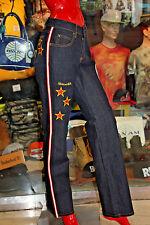 Women's Platinum Fubu Dk.Blue/Red Denim Pants