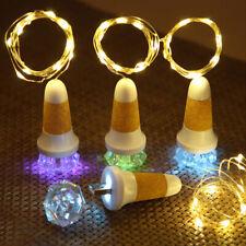 Hot USB LED Fairy Light Cork Lamp Wine Bottle Stopper Night Lights Rechargeable