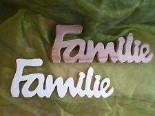Schriftzug Familie Buchenholz /Sperrholz Neu Dekoration individuell gestalten