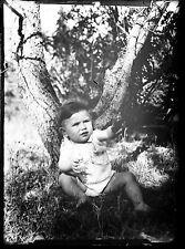 Photo ancien négatif sur verre plaque  portrait d'un enfant -  negative