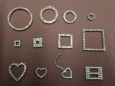 SB rhinestone jewelry findings circle square heart sew-on glue wholesale craft