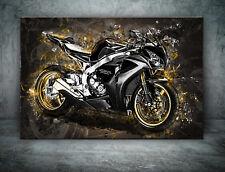 Leinwand Bild Honda CBR 1000 RR Motorrad Deko Wandbild Poster XXL Kunst  Abstrak