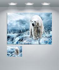 Oso Polar Artic Paisaje Gigante pared arte cartel impresión