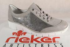 Rieker Damen Schnürschuhe, Halbschuhe, Sneakers, beige, 53720  NEU!