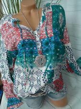 Sheego Damen Bluse Tunika Hemdbluse Gr. 40 bis 54 bunt große Größe (867) NEU