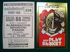 CALCIATORI 1987-88 87-1988 n 334 BARLETTA MASCOTTE SCUDETTO Figurina Panini NEW