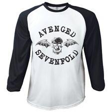 Avenged Sevenfold T Shirt Classic Deathbat Official White Mens Raglan Baseball
