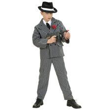 Gangster Boy Fancy Dress Costume Deluxe Calidad Doble Abotonadura década de 1920 Bugsy Mal