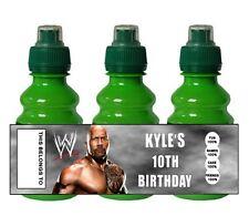 Personalizado Wwe Wrestling Frutas disparar Botella Etiqueta Partido Bolsa Rellenos