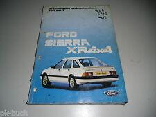 Werkstatthandbuch Ford Sierra XR 4x4 Ergänzung 03/1985