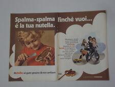 advertising Pubblicità 1972 NUTELLA FERRERO