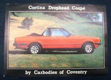 Ford Cortina caída Cabeza Coupe Ventas Hoja Circa 1979?