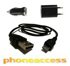 Chargeur 3 en 1 Micro USB 1A (Secteur + Voiture + Câble USB)  pour Acer