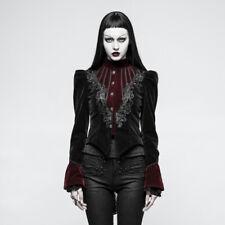 Punk Rave Desdemona Black & Red Velvet Jacket [Special Order] - Gothic,Goth,Rock