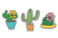 Cacti Set Cute Vinyl Sticker - SELECT SIZE
