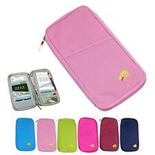 Polyester/ Nylon Travel Organiser Passport Holder Wallet Full Zip Document Bag