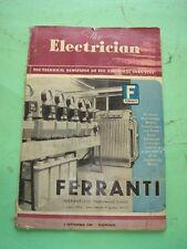 REVISTA - MAGAZINE THE ELECTRICIAN. 2 SEPTIEMBRE 1949