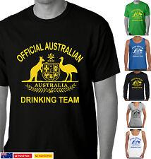 Official Australian drinking Team Funny T-shirts Aussie tshirt Straya day tee