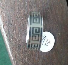 Nuevo bisutería anillo de acero inoxidable color plata blanco pulido espesor 8mm talla 18-24 #159