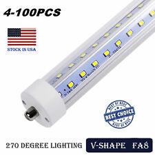 LED Tube Light 8FT 65W T8 T10 T12 Single Pin FA8 Base Double Side V Shaped LED