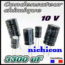 N10/3300# 2 à 20 pcs 3300µF 10v nichicon Condensateur chimique - 12,5x20 3300uf