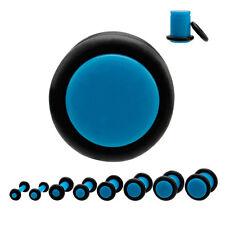 Piercing plug (tunnels ecarteur expander) Bleu de 1.6 mm à 8 mm